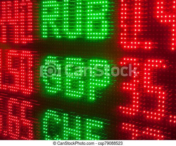 oficina de cambio, rate. - csp79088523