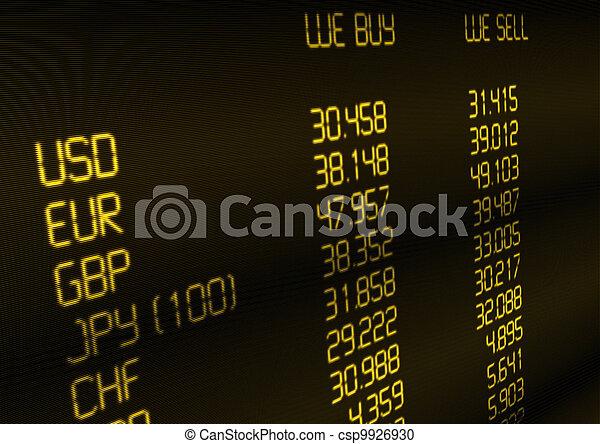 Ritmo de cambio de moneda - csp9926930