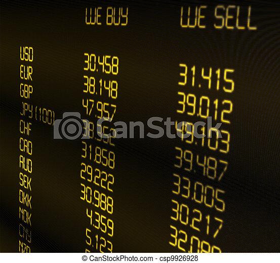 Ritmo de cambio de moneda - csp9926928
