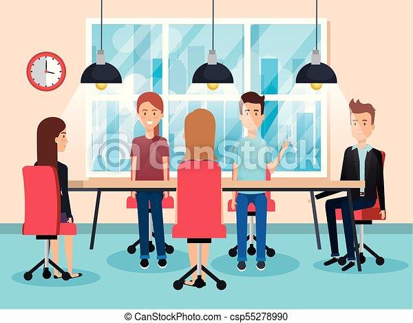 Gente trabajando en la oficina - csp55278990