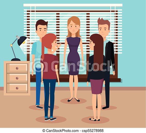 Gente trabajando en la oficina - csp55278988