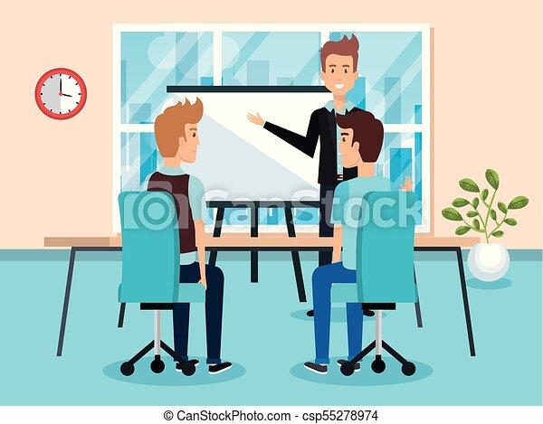 Gente trabajando en la oficina - csp55278974