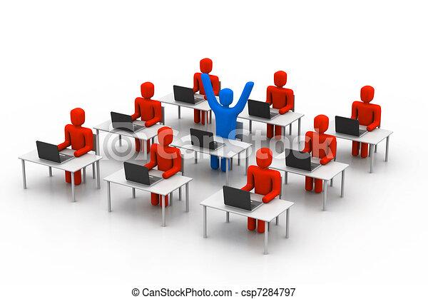 Oficina de trabajo gente ilustraciones de archivo for Oficinas para buscar trabajo