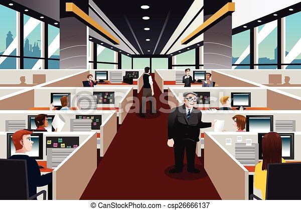 Ilustraci n vector oficina de trabajo gente vectores for Oficina de empleo lalin