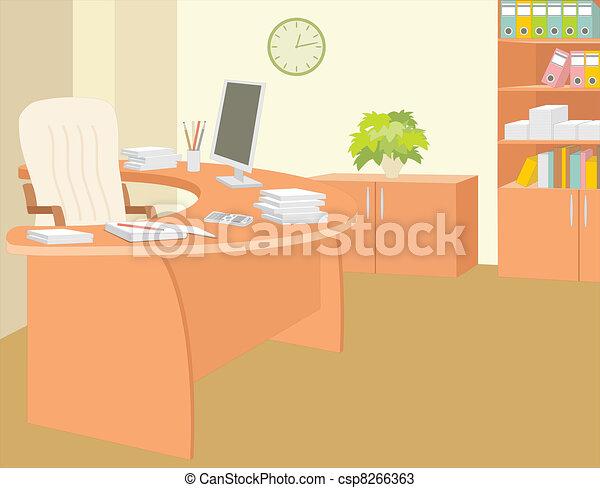 Oficina del director. - csp8266363