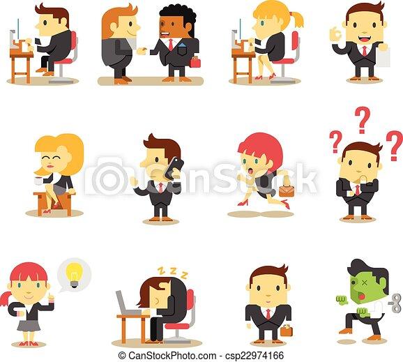 Gente de negocios de oficina - csp22974166