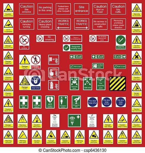 Señales de industria y oficina - csp6436130