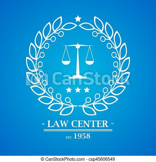 Firma de abogados, oficina, diseño de logo central - csp45606549