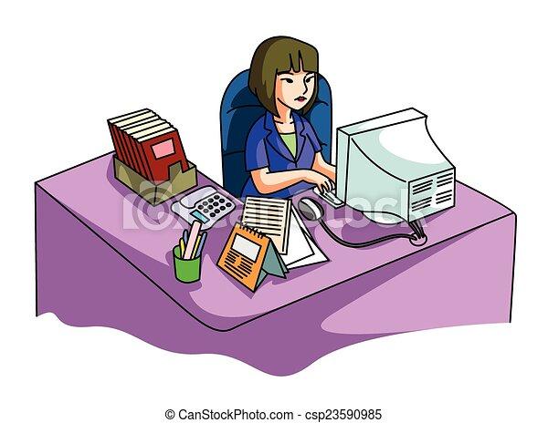 Oficina mujeres for Dibujo de una oficina moderna