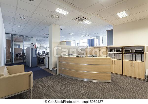 La recepción de la oficina - csp15969437