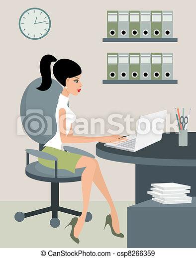Secretaria en la oficina - csp8266359