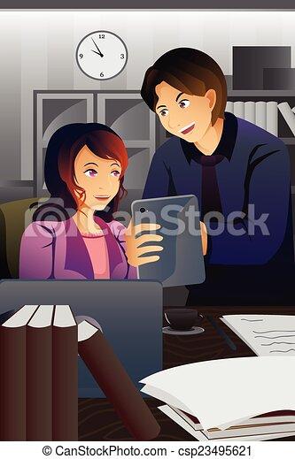 Gente de negocios trabajando en la oficina - csp23495621