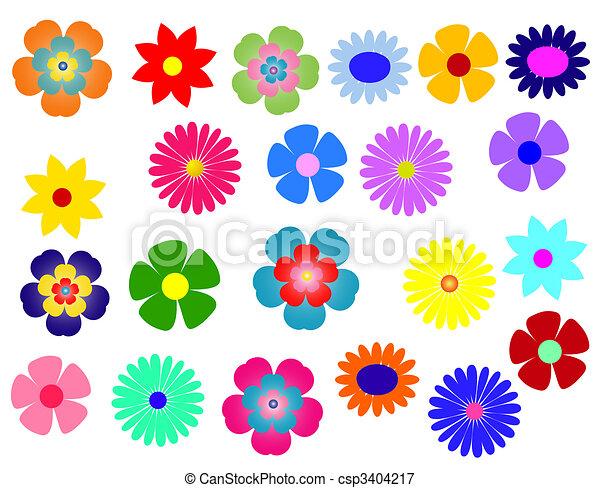 Flores de colores grandes - csp3404217