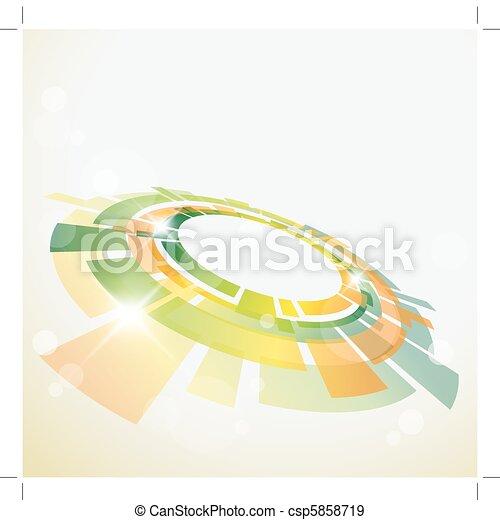 oggetto, fondo, astratto, 3d - csp5858719