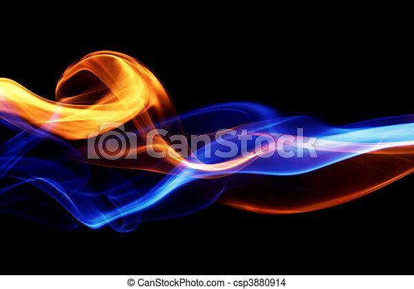 ogień, projektować, lód, & - csp3880914