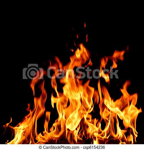 ogień, zamknięcie, płomień, do góry - csp6154236