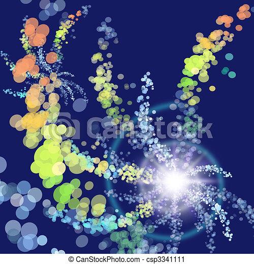 ohňostroj, ilustrace - csp3341111