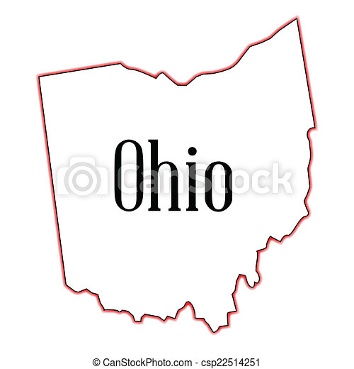 Outline Map Of Ohio.Outline Map Of The State Of Ohio