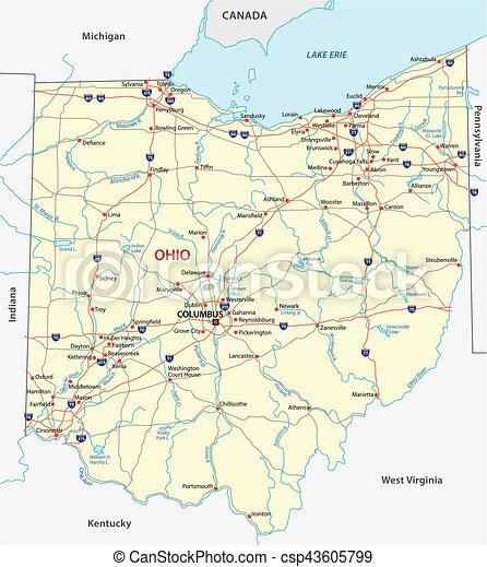 ohio road map - csp43605799