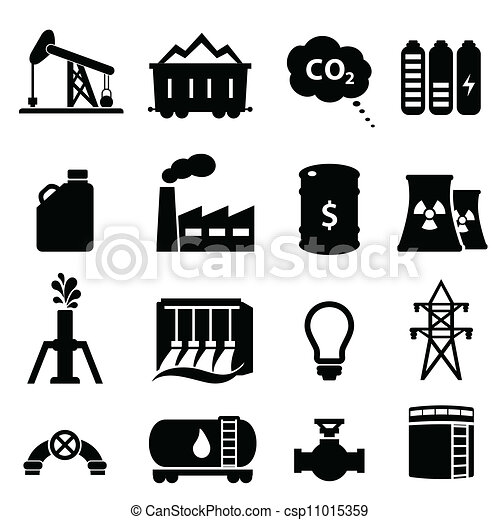 Oil and energy icon set - csp11015359