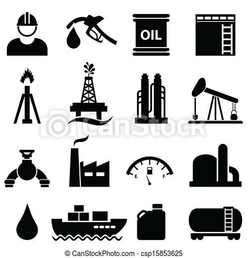 Oil and gasoline icon set - csp15853625