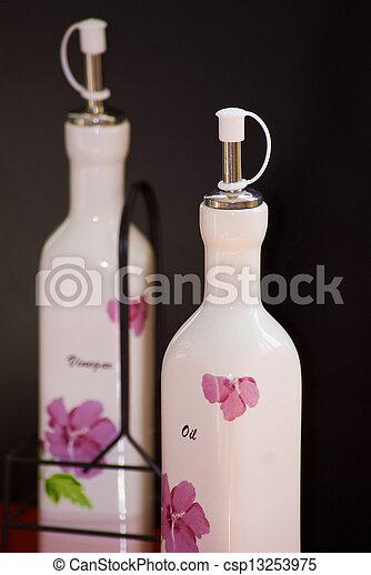 oil and vinegar bottle - csp13253975
