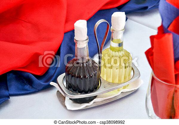 oil and vinegar bottles - csp38098992