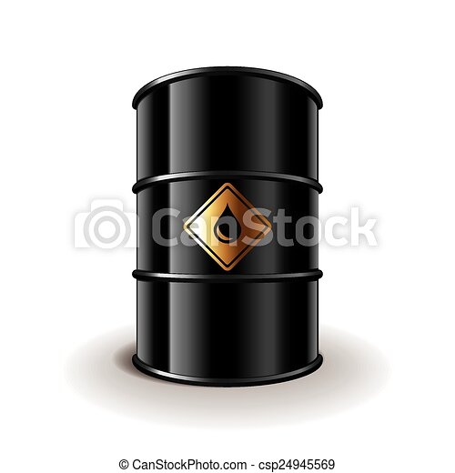 Oil barrel isolated on white vector - csp24945569