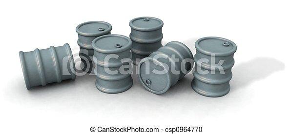 oil barrels - csp0964770