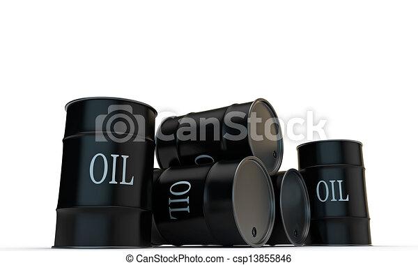oil barrels - csp13855846