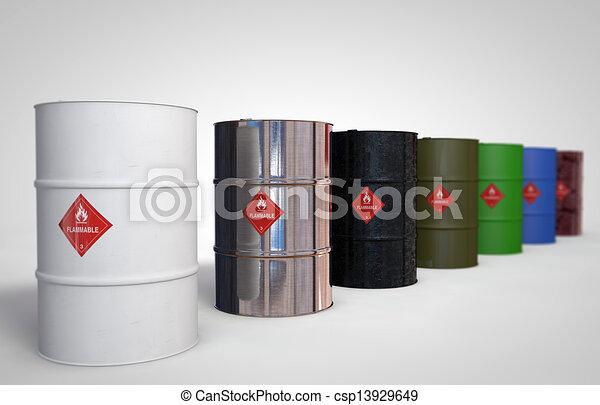 Oil-Barrels - csp13929649