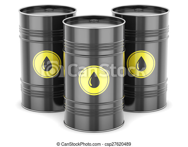 Oil barrels isolated white black drum fuel steel stock for Motor oil by the barrel