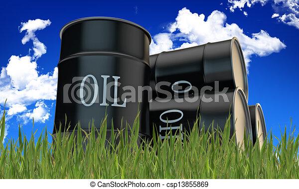 oil barrels - csp13855869