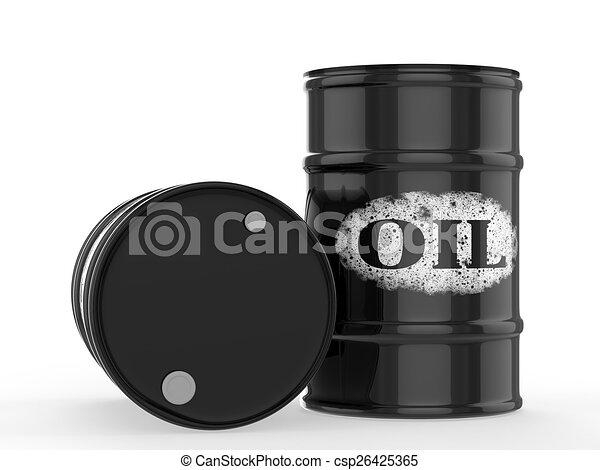 oil barrels - csp26425365