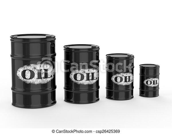oil barrels - csp26425369