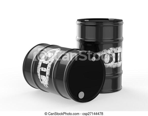 oil barrels - csp27144478