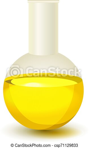 Oil bottle isolated on white background - csp71129833