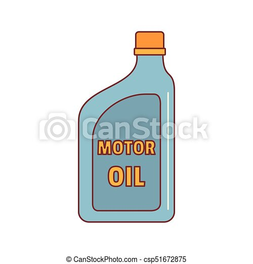 Oil canister icon, cartoon style - csp51672875