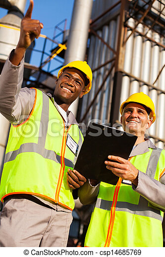 oil chemical industry workers - csp14685769