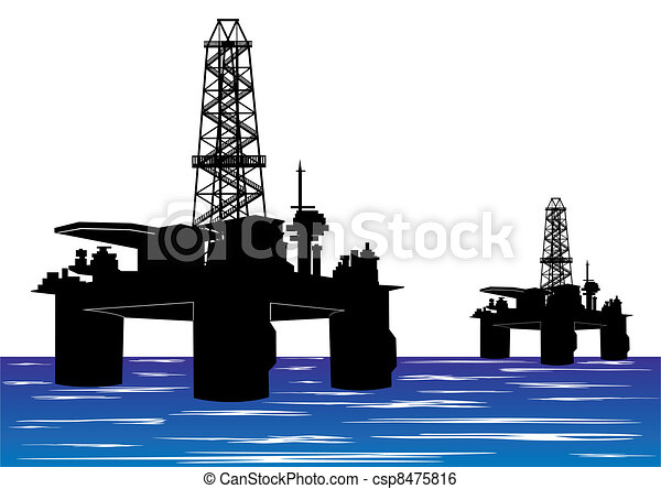 mining and quarrying oil drilling rigs rh canstockphoto com oil drilling rig clipart free clipart oil rig