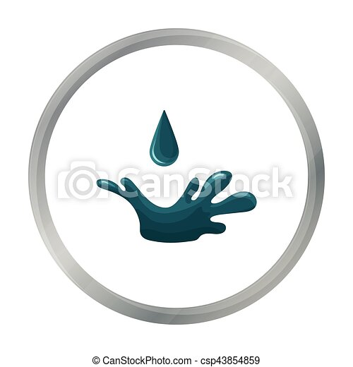 Oil Drop Icon In Cartoon Style Isolated On White Background Oil