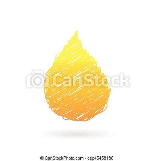 oil drop vector - csp45458186