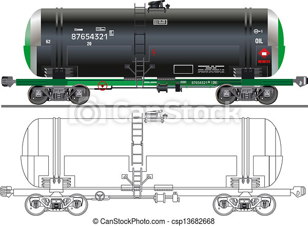 Oil / gasoline tanker car - csp13682668