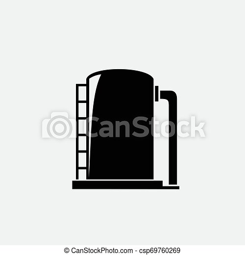 Oil icon isolated on white background - csp69760269