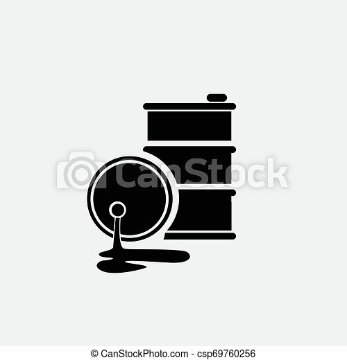 Oil icon isolated on white background - csp69760256