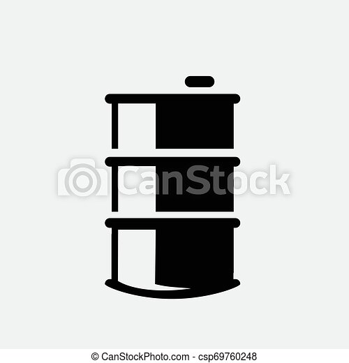 Oil icon isolated on white background - csp69760248