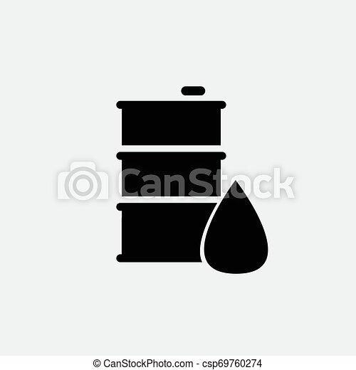 Oil icon isolated on white background - csp69760274