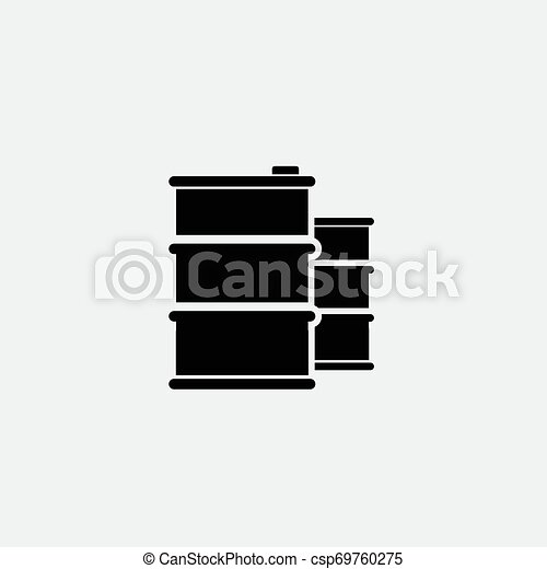 Oil icon isolated on white background - csp69760275