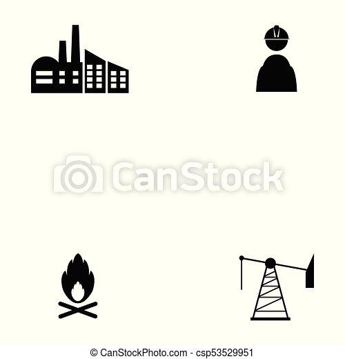 oil icon set - csp53529951