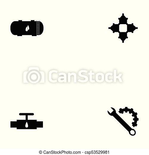 oil icon set - csp53529981